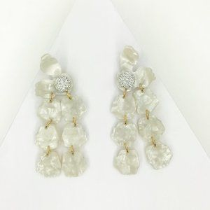 LELE SADOUGHI | Petal Drop Earrings in White